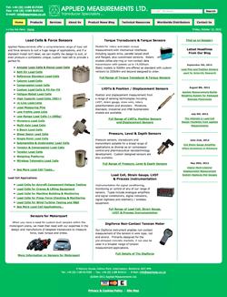 Applied Measurements Ltd - Old Website Design