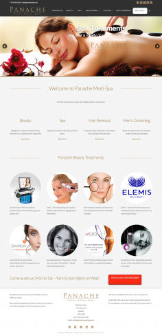 Panache Medi Spa – Website Design