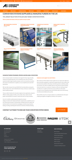 AS Conveyor Systems – Website Redesign
