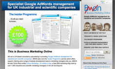 Business Marketing Online – Website Redesign
