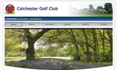 Colchester Golf Club – Website Redesign