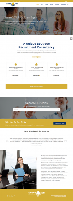 Golden Egg Recruitment – Website Redesign