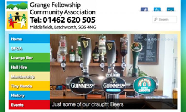 Grange Fellowship Community Association – Website Design