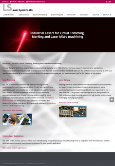 LS Laser System – Website Design