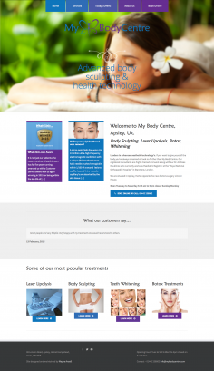 My Body Centre – Website Redesign