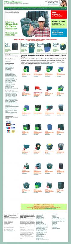 Oiltank Shop – Website Design