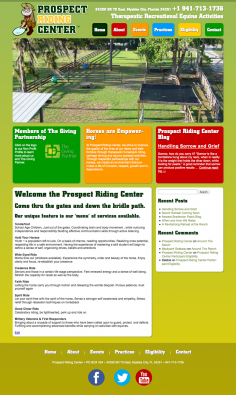 Prospect Riding Center – Website Design