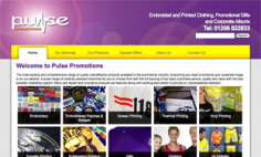 Pulse Promotions – Website Redesign