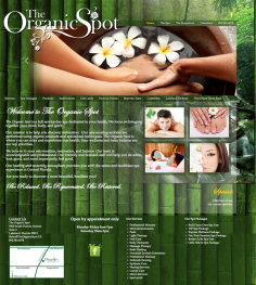 The Organic Spa – Website Design