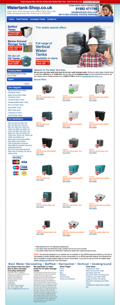 Watertank Shop – Website Design